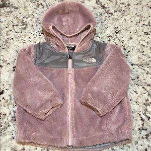 The North Face size 12-18 month pink fleece jacket
